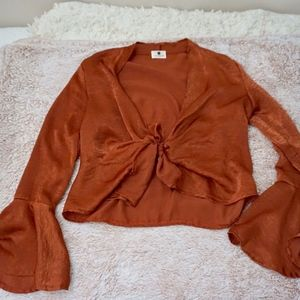 Tiger Mist 'Hello Lover' Blouse in Rust